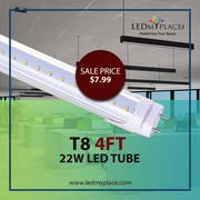 Illuminate your Interior with T8 4ft 22W LED Tubes